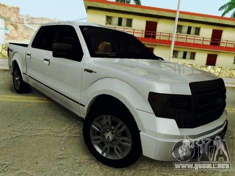 Ford F150 Platinum Edition 2013 para GTA San Andreas vista posterior izquierda