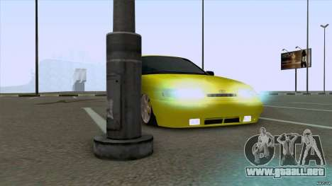 Arena amarilla 2110 VAZ para GTA San Andreas vista posterior izquierda