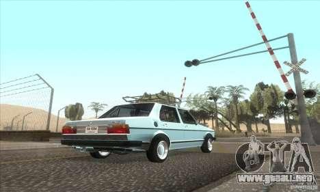 Volkswagen Jetta MK1 para GTA San Andreas vista hacia atrás