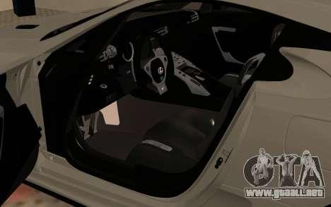 Lexus LFA AutoVista 2010 para GTA San Andreas vista hacia atrás