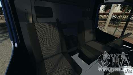 Mercedes-Benz Sprinter G4S ES Cash Transporter para GTA 4 vista interior