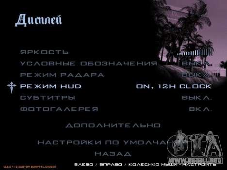 formato de 12/24 horas para GTA San Andreas tercera pantalla