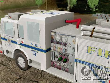 Pierce Pumpers. B.C.F.D. FIRE-EMS para vista lateral GTA San Andreas