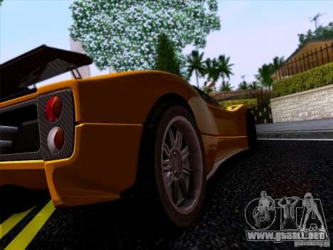 Pagani Zonda C12S Roadster para GTA San Andreas vista posterior izquierda
