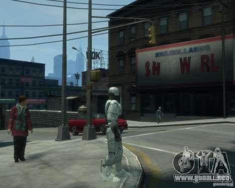 Piel Robokopa para GTA 4 segundos de pantalla