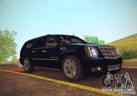 Cadillac Escalade ESV 2012 para la visión correcta GTA San Andreas