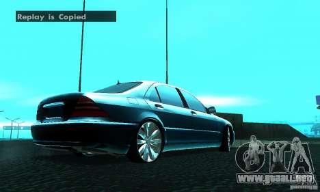 Mercedes-Benz S600 W200 para GTA San Andreas vista posterior izquierda