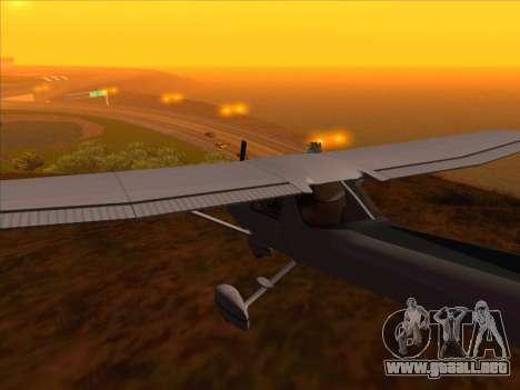 Cessna 152 v.2 para GTA San Andreas vista posterior izquierda