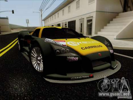 Gumpert Apollo 2005 para vista lateral GTA San Andreas