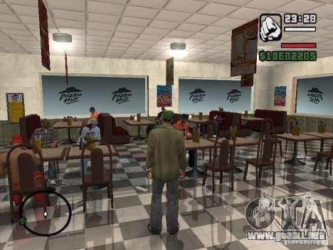Nuevos restaurantes de texturas para GTA San Andreas sexta pantalla