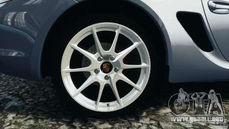 Porsche Cayman R 2012 para GTA 4 vista lateral