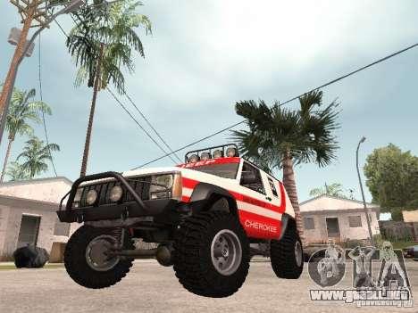 Jeep Cherokee 1984 para GTA San Andreas left