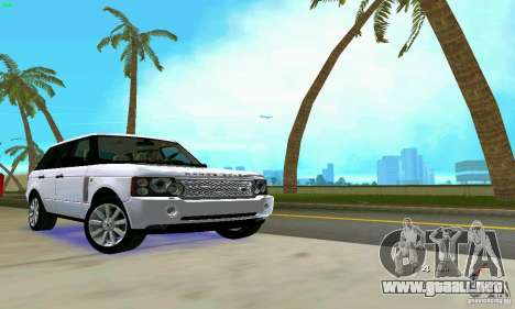 Land Rover Range Rover Supercharged 2008 para GTA Vice City vista superior