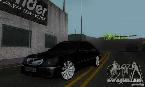 Mercedes-Benz S600 W200 para GTA San Andreas left