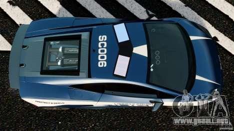 Lamborghini Gallardo LP570-4 Superleggera Police para GTA 4 visión correcta