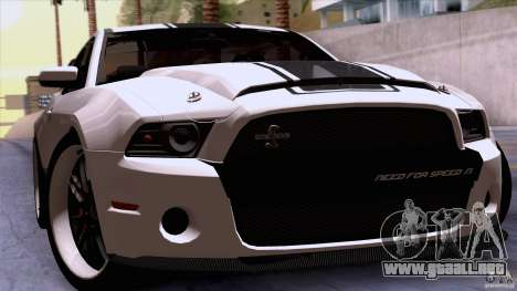 Ford Shelby GT500 Super Snake para GTA San Andreas vista hacia atrás