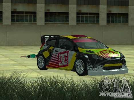 Ford Fiesta H.F.H.V. Ken Block Gymkhana 5 para GTA San Andreas vista posterior izquierda