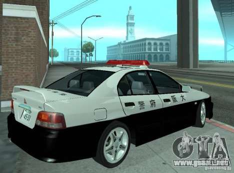 Mitsubishi Galant Police para la visión correcta GTA San Andreas