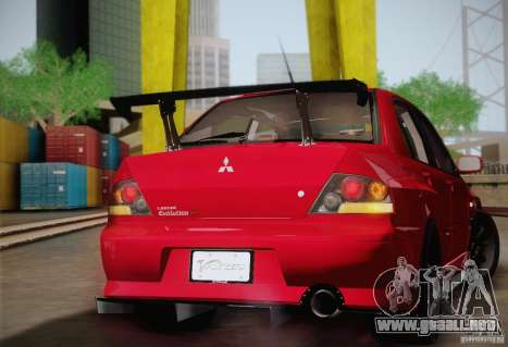 Mitsubishi Lancer Evolution VIII MR Edition para GTA San Andreas vista hacia atrás