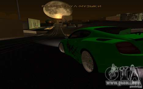 Bentley Continental GT para visión interna GTA San Andreas