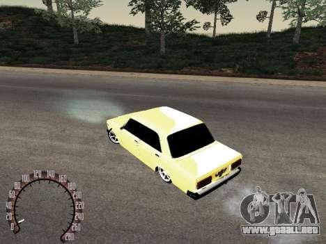VAZ 2107 oro para la visión correcta GTA San Andreas