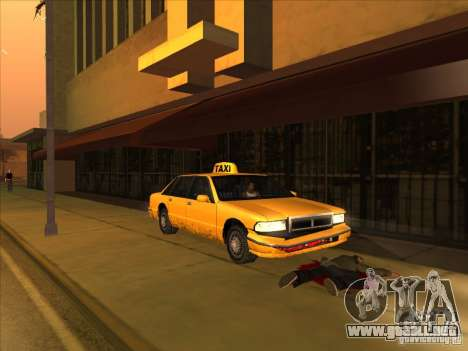 Sangre en coche v2 para GTA San Andreas