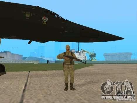 Tu 160 Black Jack para GTA San Andreas vista hacia atrás