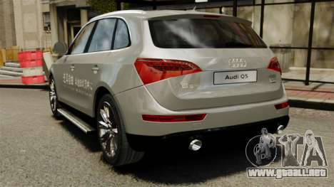 Audi Q5 Chinese Version para GTA 4 Vista posterior izquierda