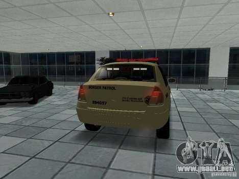 Renault Clio Symbol Police para GTA San Andreas vista posterior izquierda