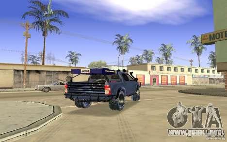 Toyota Hilux Rally Version para la visión correcta GTA San Andreas