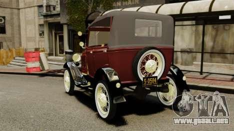 Ford Model T 1926 para GTA 4 Vista posterior izquierda