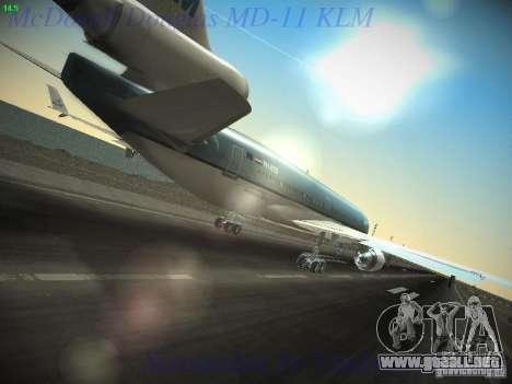 McDonnell Douglas MD-11 KLM Royal Dutch Airlines para GTA San Andreas vista hacia atrás
