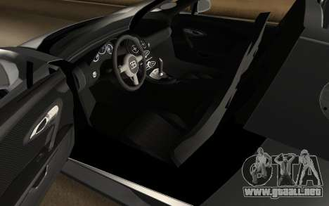 Bugatti Veyron Grand Sport Vitesse para GTA San Andreas vista hacia atrás