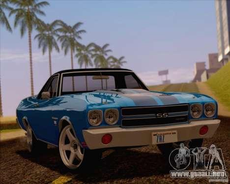 Chevrolet EL Camino SS 70 para visión interna GTA San Andreas