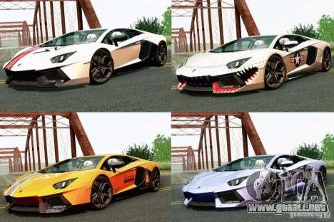 Lamborghini Aventador LP700-4 2012 para la visión correcta GTA San Andreas