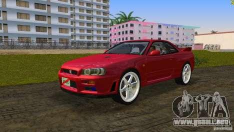Nissan Skyline GTR R34 para GTA Vice City vista lateral izquierdo
