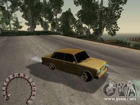 VAZ 2105 oro para la visión correcta GTA San Andreas