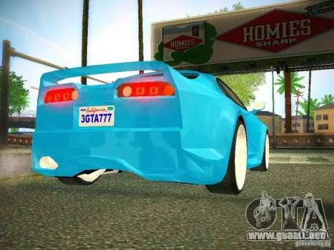 Toyota Supra VeilSide Fortune 2003 para GTA San Andreas vista hacia atrás