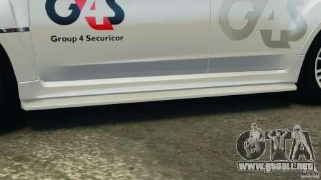 Subaru Impreza WRX STi 2011 G4S Estonia para GTA 4