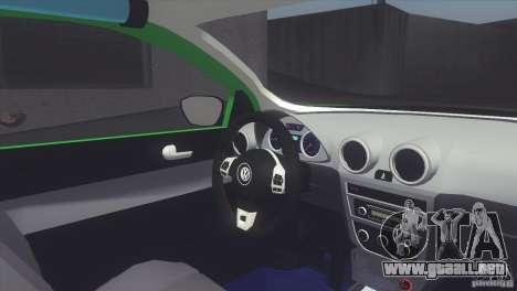 Volkswagen Saveiro 2013 para GTA San Andreas vista posterior izquierda