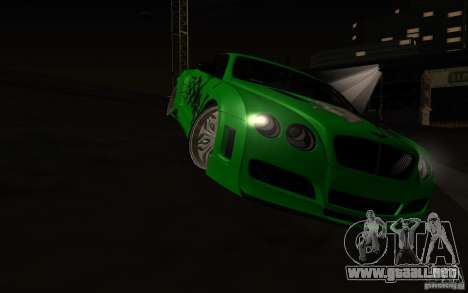 Bentley Continental GT para vista lateral GTA San Andreas