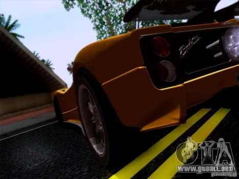 Pagani Zonda C12S Roadster para la visión correcta GTA San Andreas