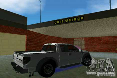 Ford F-150 SVT Raptor para GTA Vice City vista lateral izquierdo