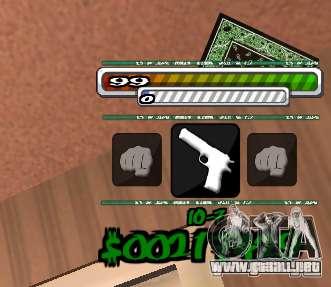 P-HUD para GTA San Andreas segunda pantalla