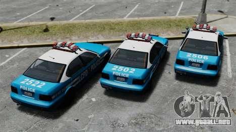 Declasse Merit Police Cruiser ELS para GTA 4 vista hacia atrás