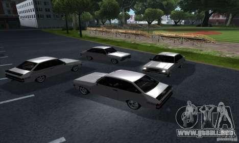 Ford Escort RS 1600 para visión interna GTA San Andreas