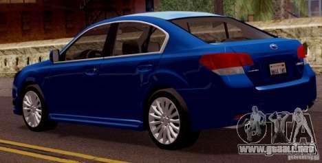 Subaru Legacy B4 2010 para la visión correcta GTA San Andreas