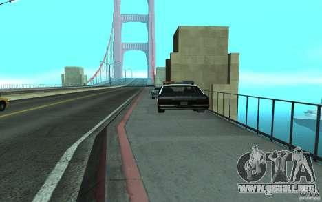 Policía en el puente, San Fierro para GTA San Andreas segunda pantalla
