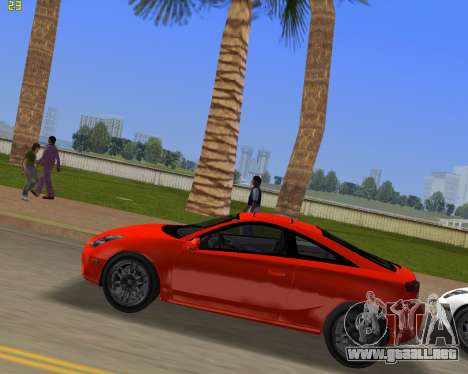 Toyota Celica 2JZ-GTE negro Revel para GTA Vice City left