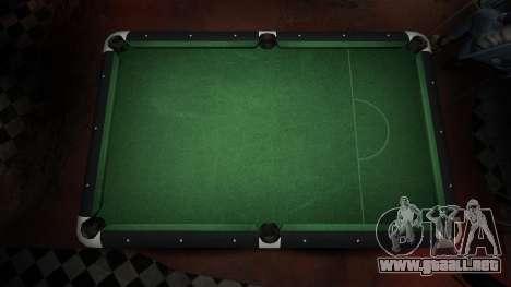Mesa de billar superior en la barra de 8 bolas para GTA 4 segundos de pantalla